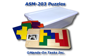 Tetris®-like Puzzle Assembly Activity