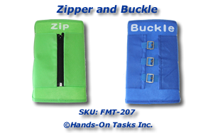 Zipper and Buckle Fine Motor Activity