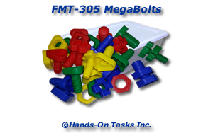 Plastic Bolts and Nuts Fine Motor Activity