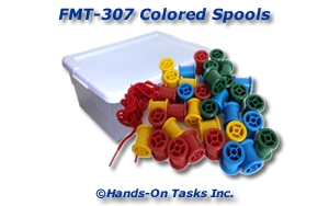 Colored Spools Fine Motor Activity