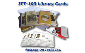 Library Cards Job Training Activity