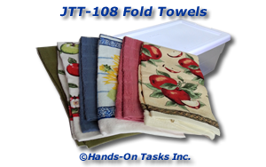Folding Towels Job Training Activity