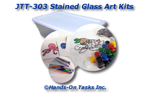 Assemble Stained Glass Art Kits Job Training Activity