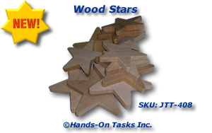 Packaging activity using wood stars