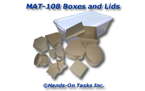 Boxes and Lids Matching Activity