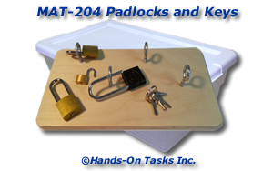 Padlocks and Keys Matching Activity