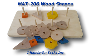 Wood Shapes Matching Activity