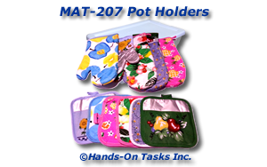 Pot Holder and Oven Mitt Matching Activity