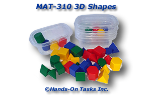 Match 3D Shapes by Shape or Color