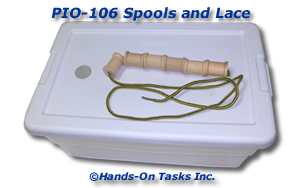Lacing Wood Spools Activity