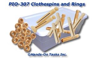 Clothespins and Rings Put-On Activity