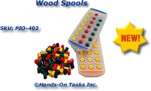 Wood Spool Sorting Activity