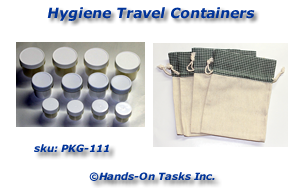 Personal Hygiene Travel Bottles Packaging Activity