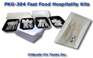 Packaging activity using fast food plastic ware
