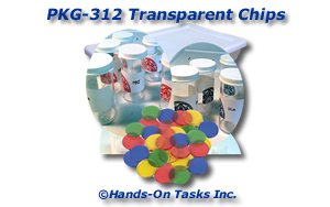 Transparent Counting Chips Packaging Activity