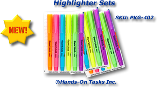 Colored Highlighters Packaging Activity