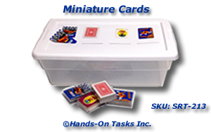 Miniature Playing Cards Sorting Activity