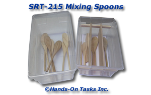 Wood Mixing Spoon Sorting Activity