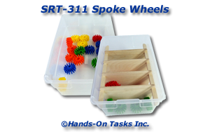 Plastic Spoked Wheels Sorting Activity