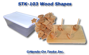 Stacking Wood Shapes Activity