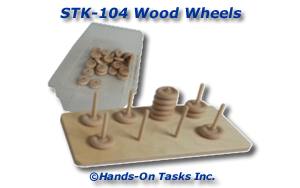 Stacking Wood Wheels Activity