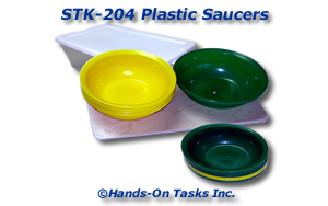Stacking Plastic Saucers Activity