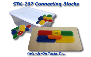 Stacking Plastic Connecting Blocks Activity