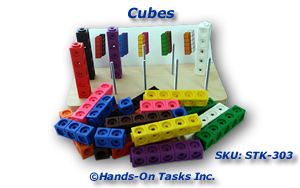 Stacking Plastic Snap Cubes activity