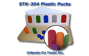 Stacking Plastic Pucks Activity