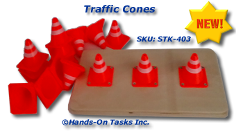 Small Traffic Cones Stacking Activity