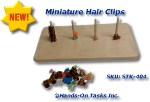 Miniature Hair Clips Stacking Activity