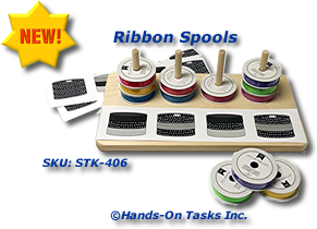 Ribbon Spools Stacking Activity