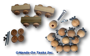 Assembly Job Training Activity Using Wood and Hardware Pieces