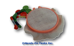 Sew a Button Transitional Training Activity to Help Develop Personal Skills