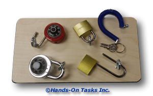 Practice Opening and Closing Standard and Combination Locks to Help Develop Personal Skills with this Transitional Training Activity