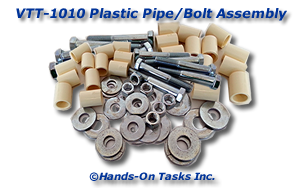 Plastic Pipe and Bolt Assembly Activity