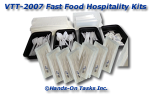 Fast Food Hospitality Kit Packaging Activity