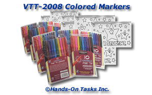 Colored Marker Packaging Activity