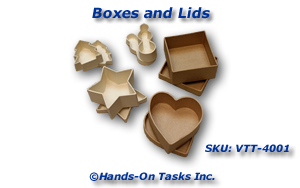 Box and Lid Matching Activity