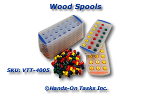 Wood Spool Sorting and Fine Motor Activity